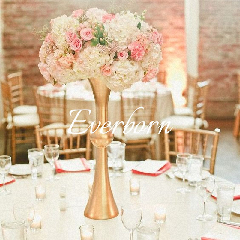 10pcs Lot Gold Tabletop Vase Metal Flower Vase Table Centerpiece Tall Flower Holder For Mariage Wedding Decoration Party Diy Decorations Aliexpress