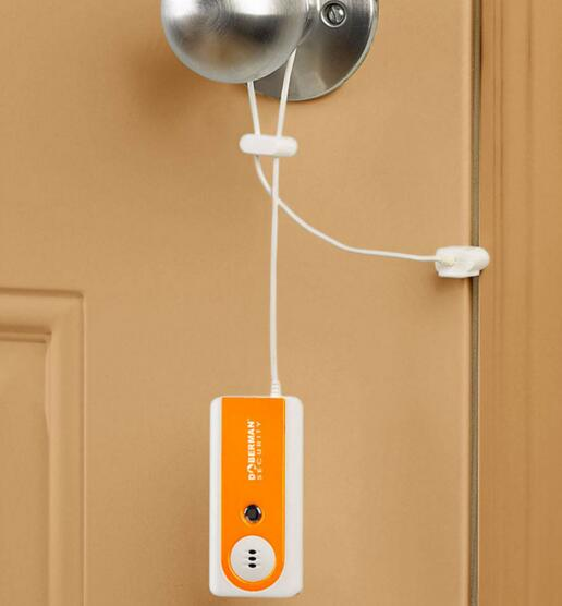 Vibration Triggered Alarm for Home or Travel sleep securely easy set-up for door
