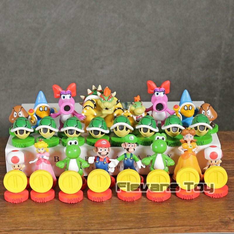 Super Mario Brothers échecs édition Collector figurines en PVC modèle jouets 32-pack