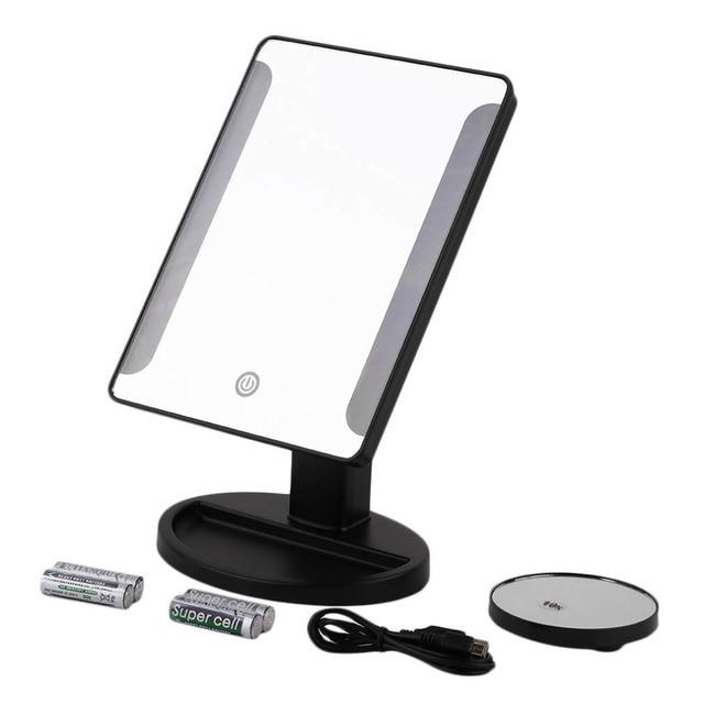 36 LED Яркий Макияж Зеркало Настольное Компактное Зеркало USB Питания Красота Макияж Дом Зеркало Увеличительное Стекло