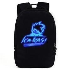 Naruto Luminous Rucksack Hokage School Travel laptop Bag Canvas Backpack