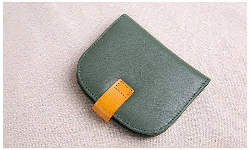 carteira de couro retro