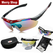 2015 New Men Glasses Sunglasses 5 Lenses Goggles Eyewear Cool with Exchangeable 5 Lens White Frame