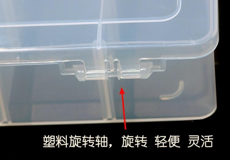24 Caja de plástico original de Pp Caja de hardware de celosía Caja - Almacenamiento de herramientas - foto 5