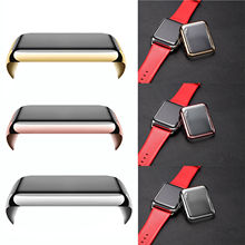 Hiqh Quality Screen Protector Ultra-Thin Slim Electroplate Metal Plated Hard Case For Apple Watch 1ST Plating Cover 42mm 38mm