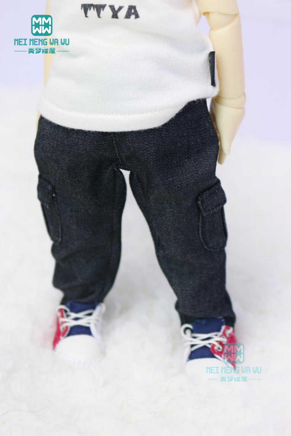 2019 החדש BJD אביזרי אופנה אופנה חולצה, ג 'ינס מכנסיים קצרים, מכנסי קז'ואל עבור 27 cm-30 cm 1/6 BJD YOSD בובת בגדים