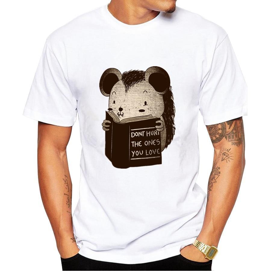 Shirt design book - T Shirts For Men Animal Reading Book Hot Design Men S T Shirts Anime Funny