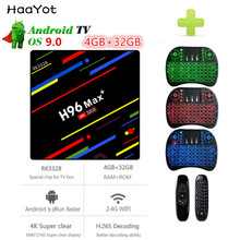 HAAYOT H96 MAX+ TV Box RK3328 Android 9.0 4GB RAM 32GB 2.4G WiFi 100Mbps HDMI 4K Quad Core Media Player Smart Android Box 2019(China)