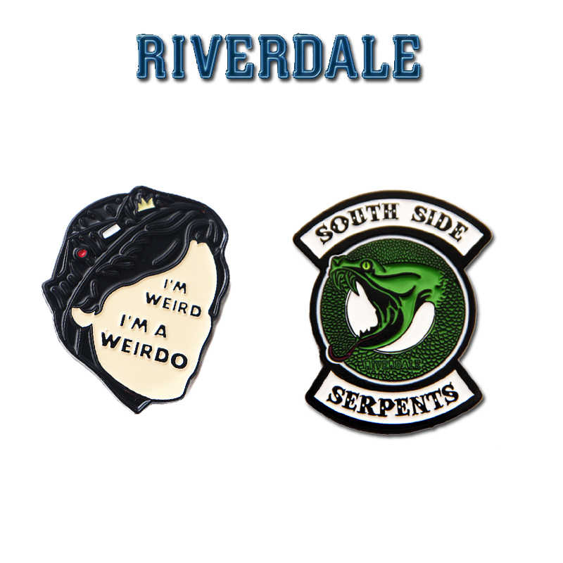 TV Series Riverdale Cosplay Costume Badge Enamel Pins Jughead Jones Brooch Lapel Pin Bag South Side Collection Halloween