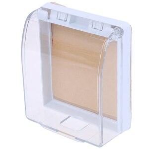Image 4 - 플라스틱 벽 스위치 방수 커버 박스 벽 라이트 패널 소켓 초인종 플립 캡 커버 지우기 욕실 주방 높은 Qulaity