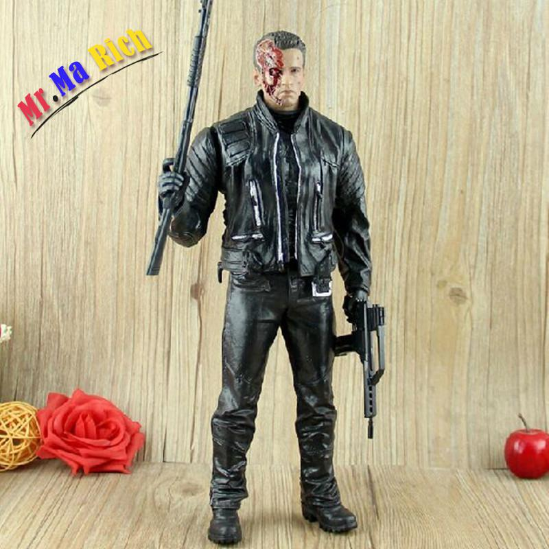 Film The Terminator T-arnold Schwarzenegger Bambola Del Pvc Action Figure Model Toy 12 30 Cm Con neca the terminator 2 action figure t 800 endoskeleton classic figure toy 718cm 7styles