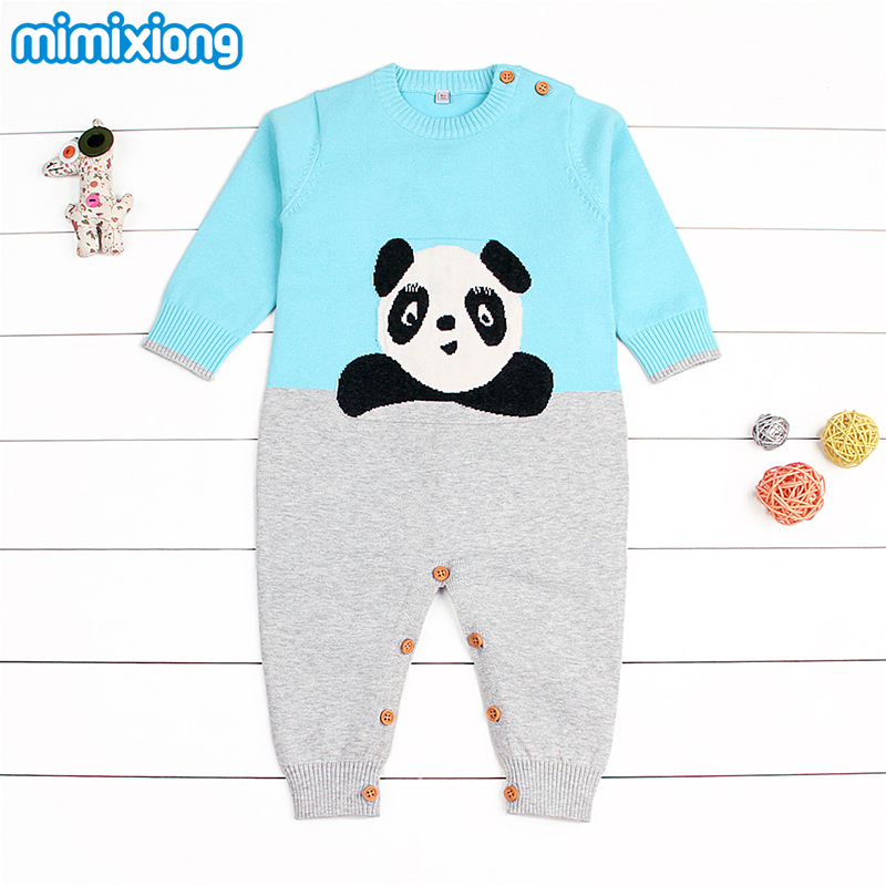 Panda Baby Girl Rompers Long Sleeve Newborn Boys Bunny Jumpsuits Outfits Spring Cotton Infant Kids Onesie Cartoon Style Overalls mother nest 3sets lot wholesale autumn toddle girl long sleeve baby clothing one piece boys baby pajamas infant clothes rompers