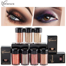 New niceface Shining Shimmer Eyeshadow Powder Makeup Waterproof Warm Color Pigments Metallic Glitter Eye Shadow Powder Cosmetic(China)