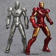 Revoltech figura de ação colecionável, boneco homem de ferro no.036 mark iii mk3 no.035 mark 2 mark ii brinquedo de modelo em pvc, SCI FI hrfg500