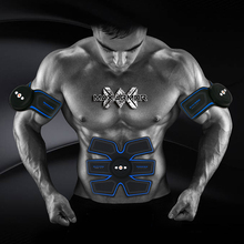 USB Rechargeable EMS Muscle Stimulator Abdominal Trainer Exerciser Electric Body Shaping Massager Slimming Patch Vibrator
