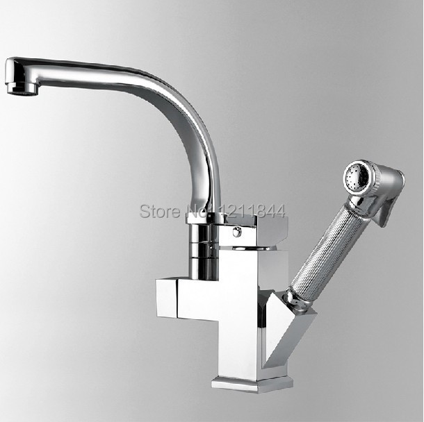 Kitchen Faucet Pull Out Two Spray Single Handle Brass Kitchen Tap Mixer Torneira Cozinha