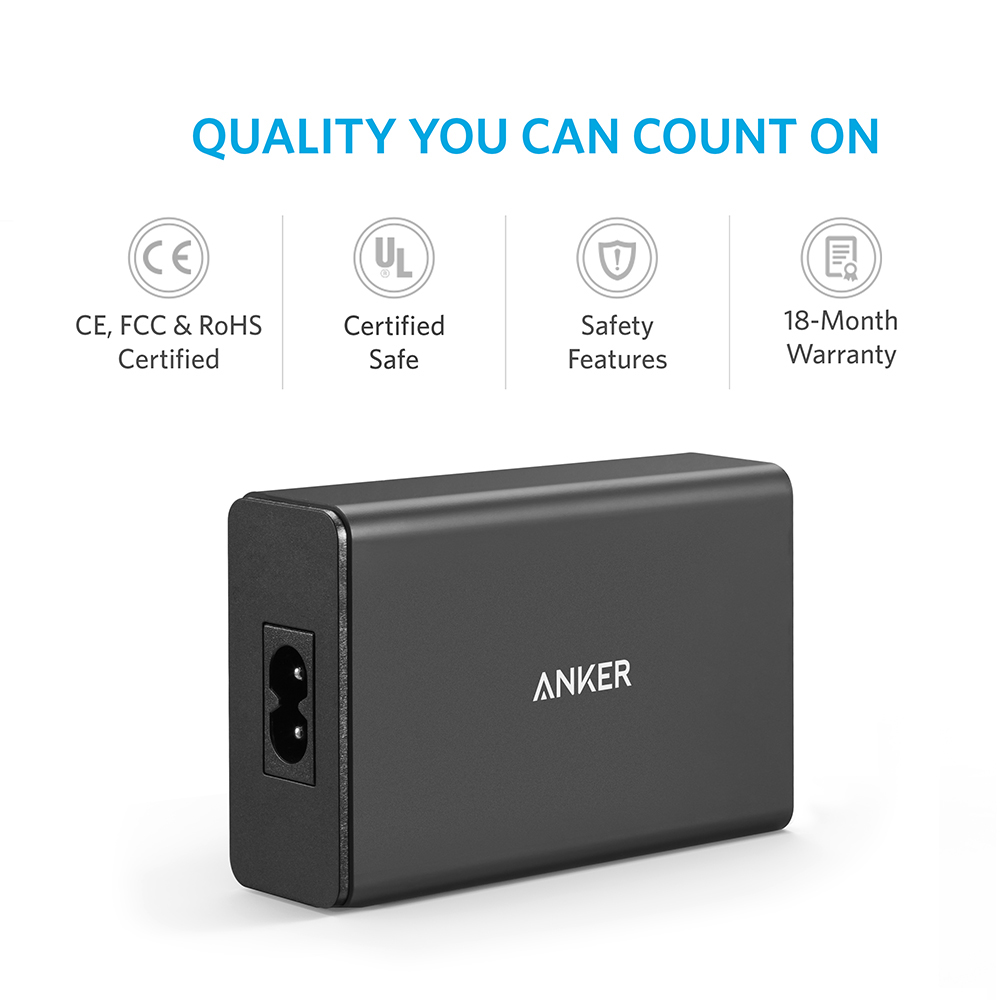 Image 5 - Anker 40W 5 Port USB Wall Charger, PowerPort 5 for iPhone,iPad Pro/Air,Galaxy S9/S8/Edge/Plus, Note 8/7,  Nexus HTC LG and more-in Mobile Phone Chargers from Cellphones & Telecommunications