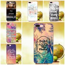 Qdowpz Soft Patterns Dont Touch My Phone Muggle For Sony Xperia Z Z1 Z2 Z3 Z4 Z5 compact Mini Premium M2 M4 M5 T3 E3 E5 XA