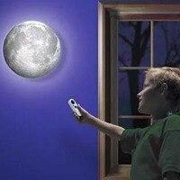 Styl skandynawski led kinkiet lampa księżycowa dla dzieci pokój sypialnia dzieci bezprzewodowa kinkiet z pilotem uzdrowienie księżyc kinkiet w Wewnętrzne kinkiety LED od Lampy i oświetlenie na