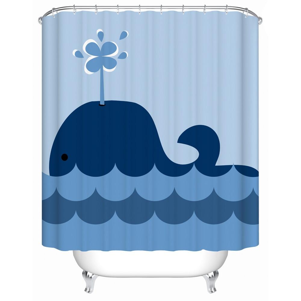 Medium Crop Of Whale Shower Curtain
