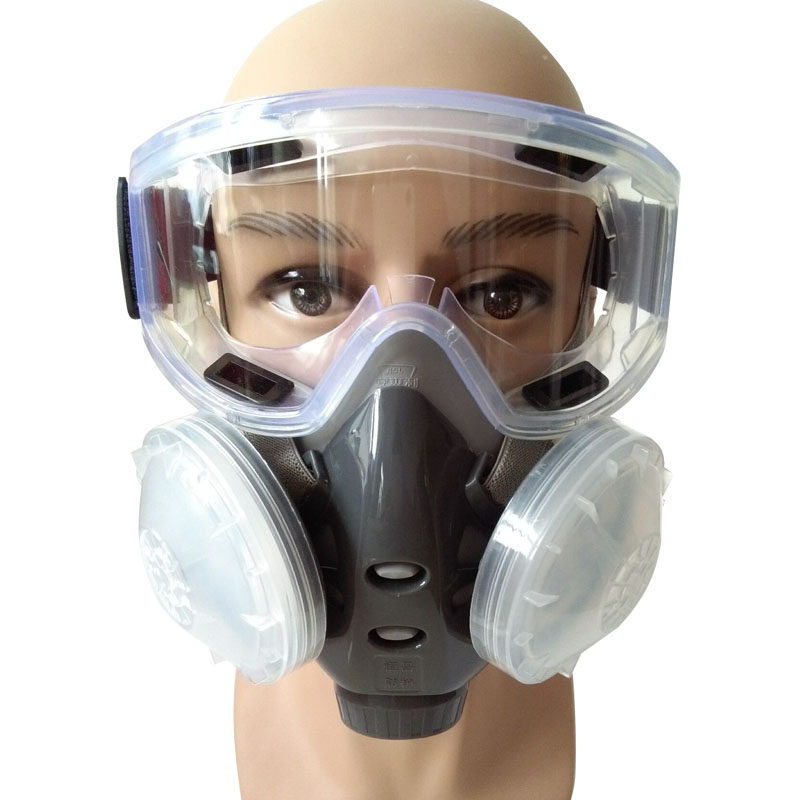 Breathing Dust Half Welding Spray For Gas N95 Chemical Filter Respirators Mask Face Anti-fog With Painting Glasses