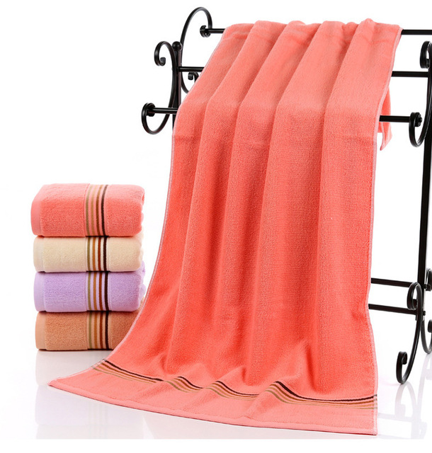 Cotton Beach Towels Solid Sheet Soft Bath Towel Quick Dry Washclothes For 70x140cm