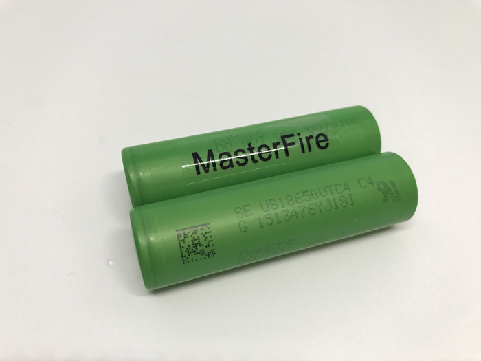 MasterFire 10PCS LOT New 18650 US18650VTC4 3 7V 2100mAh 30A VTC4 High Drain Rechargeable Battery For Sony Electonic Cigarette in Rechargeable Batteries from Consumer Electronics
