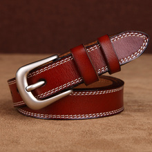Womens strap genuine leather casual all-match belt Women decoration brief fashion pin buckle