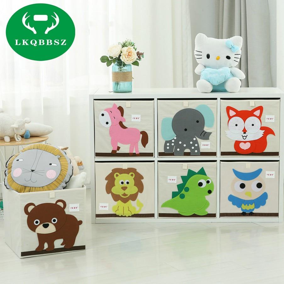 2019 New Wardrobe Kids Organizer Bins Box For Toys: 3D Embroider Cartoon Animal Folding Large Storage Box For Kids Toys Sorting Organizer Boxes