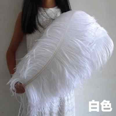 סיטונאי 100 יח'\חבילה אלגנטי לבן יען נוצות 70-75 cm חתונת קרפט ספקי צד קרנבל רקדנית קישוט plumages