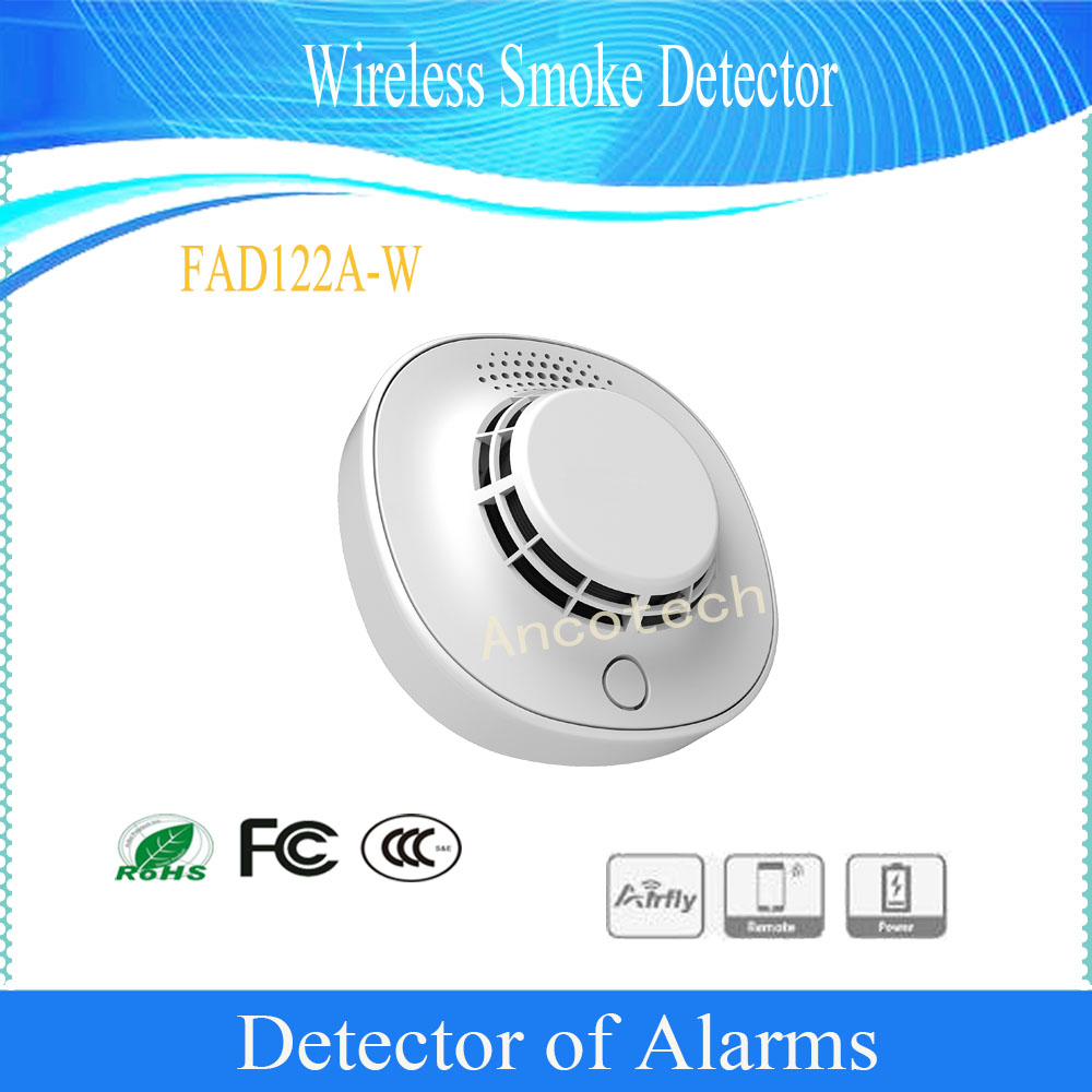 Free Shipping Original DAHUA Alarm Detector For Home Security Alarm System Wireless Smoke Detector Without Logo FAD122A-W