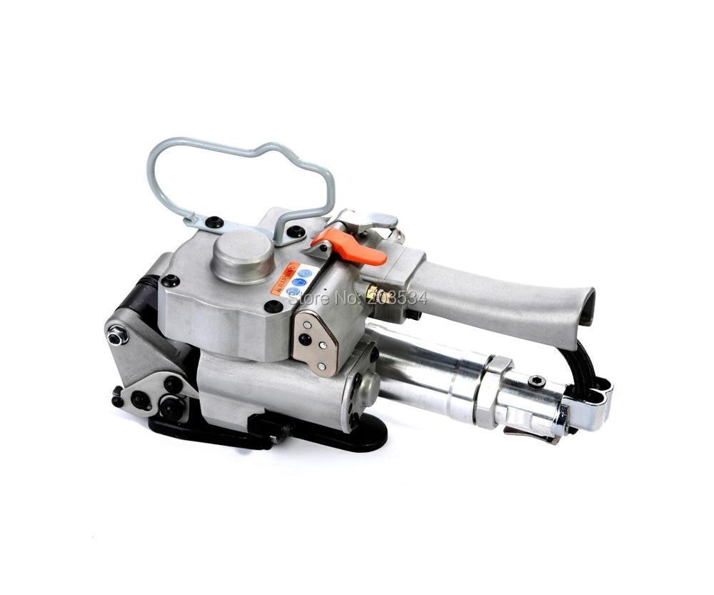 gratis verzending Nieuwe machine XQD-19 Handheld Plastic pneumatisch omsnoeringsapparaat PET omsnoeringsmachine Industrial Packing Machine Tool