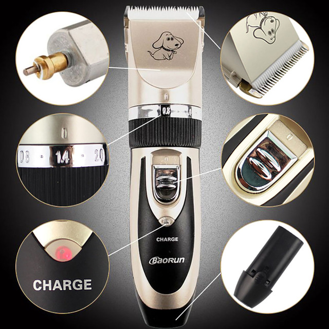 Professional Pet Dog Hair Trimmer Animal Grooming Clippers Cat Cutter Machine 2