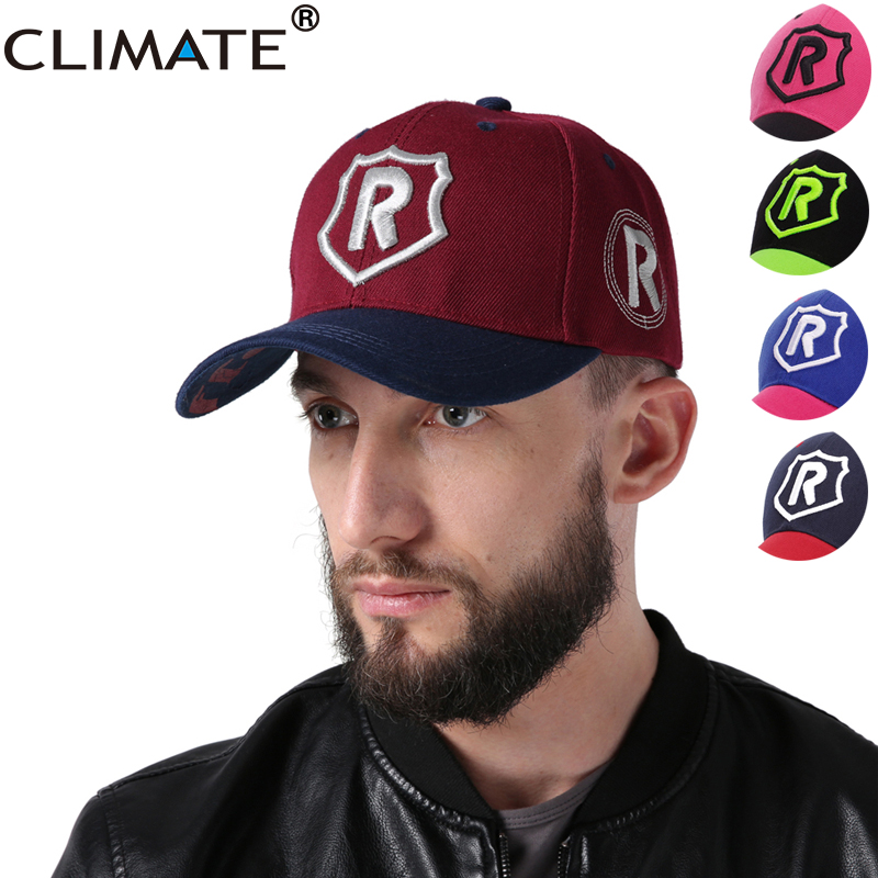 CLIMATE 2017 Men Women New Cool Baseball Caps Contrast Color 3D R Letter Running Logo Men Women Uisex Sport Adjustable Hats For climate men cool 3d u it logo black baseball caps sport striking nice cap unisex adjustable pink navy 3d logo hats for men women