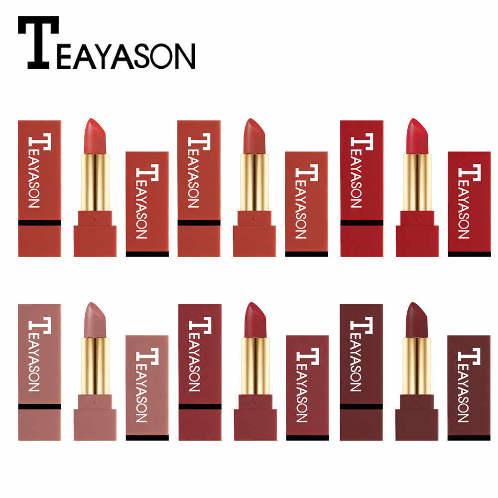 Matte Lipstick Waterproof Pigment Brown Nude Long Lasting1pc 12 colors  chosse Lipstick Matte Makeup kyliejenner pintalabios|Lipstick| - AliExpress