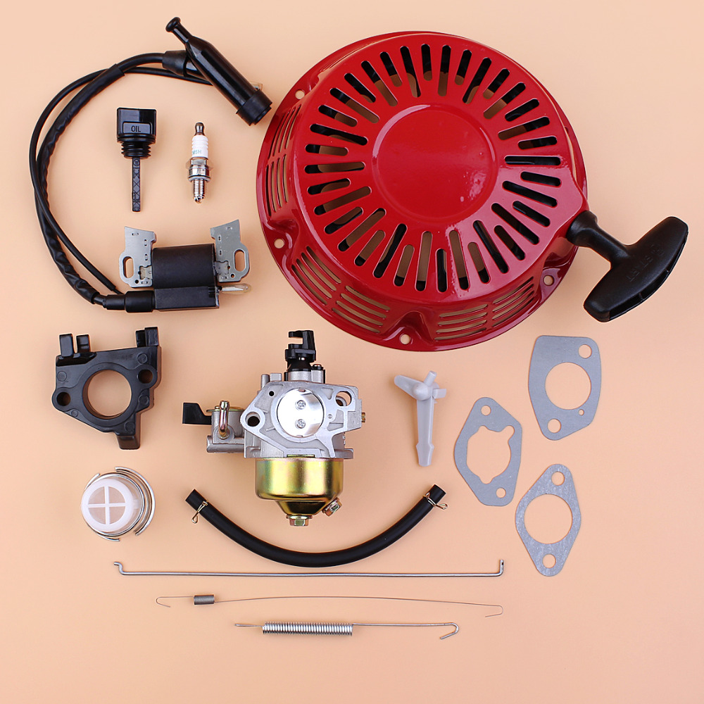 Recoil Starter Carburetor Ignition Coil Governor Link Rod Spring Kit For Honda GX390 GX 390 Chinese 188F 190F 13HP Engine Motor 88mm piston rings pin clips kit for honda gx390 gx 390 13hp gasoline engine replacement parts