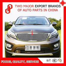 цены Modification 304 stainless car front grille racing grills grill cover trim for Sportage 2011 2012 2013 2014 2015