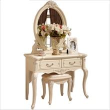 Белый Европейский зеркальный стол комод французская мебель для спальни pfy10146