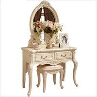 Белый европейский зеркала стол комод французский мебель для спальни pfy10146