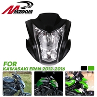 Motorcycle Headlight Assembly Headlamp Light House Fit For Kawasaki ER6N 2012 2016 13 14 15 Green Black