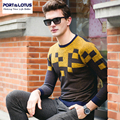 PORT&LOTUS Men's Knitted Sweaters Autumn Thin Jumper Brand Clothing Pullover Sweater Male Cardigan O-Neck Cardigans 071 23602