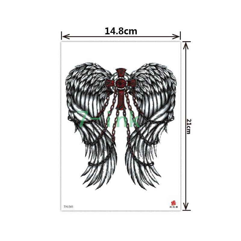 2019 NEW Temporary Tatoo Sticker  body art cross demon angel wings water Transfer Fake Tattoo Flash tatto for women men Стикер