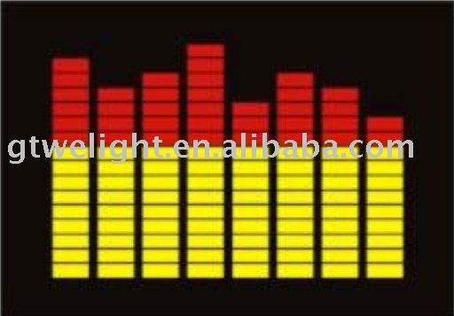 supply sound activated EL panel,el tshirt panel yellow red