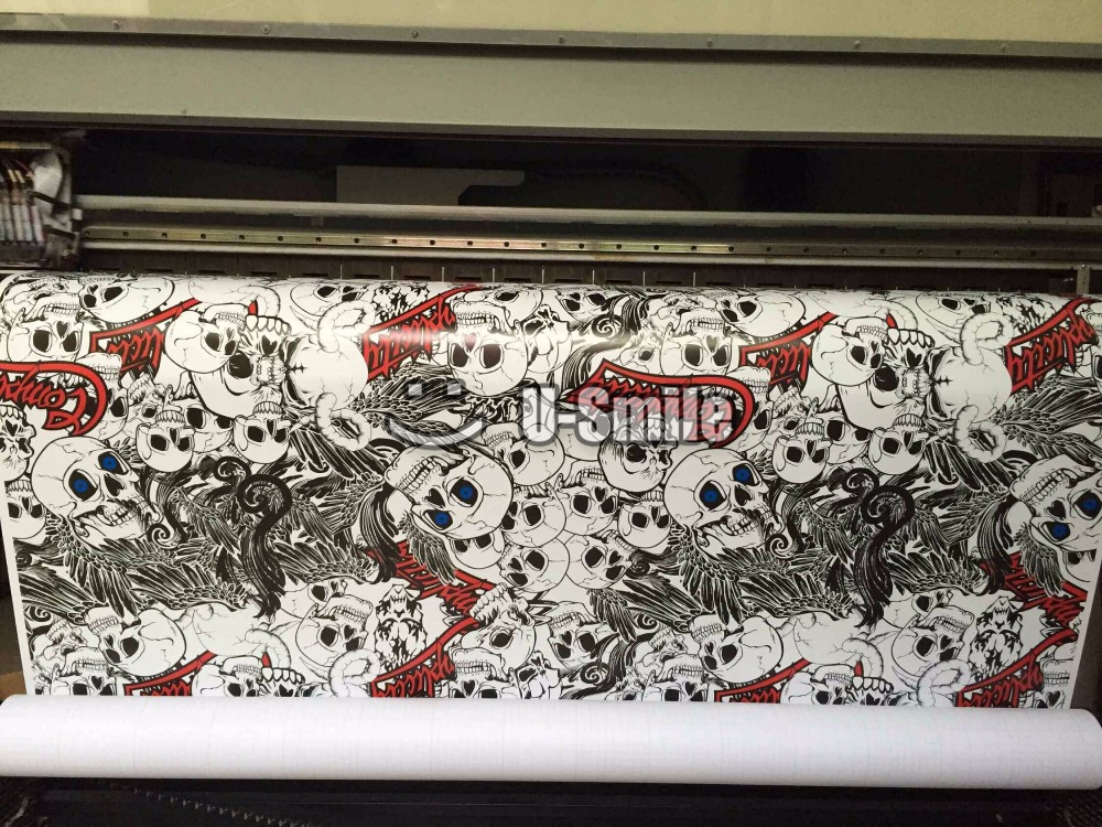 Skull Car Sticker Bomb Vinyl Film Roll Air Bubble Free For Auto Graphics Motorcyle Mcabook 30M/Roll high quality apple green carbon fiber film vinyl car sticker for car wrapping with air bubble free fedex free shipping 30m roll