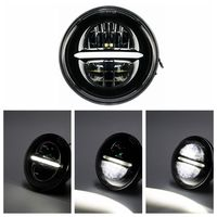 Motorcycle 5 3/4 5.75 Round Projector LED Headlamp Headlight For Harley Touring models Dyna Bad Boy Softail Sportster 883 1200
