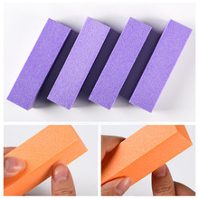 5pcs/10pcs/20pcs/set Purple Sanding Sponge Nail Buffers Pink White Files Block Grinding Polishing Manicure Art Tool