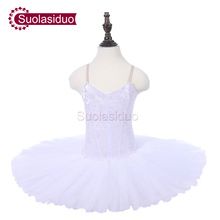 Girls white Professional Ballet Tutu Apperal The Nutcracker Performance Competition Ballet Dance Costumes Kids Ballet Skirt недорого