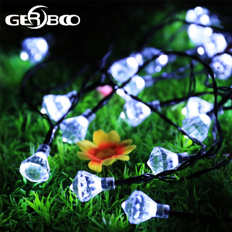 Diamond Solar String Lights White Waterproof Outdoor For Garden Patio Fence  Path Landscape Wedding Party Christmas Decoration In Solar Lamps From Lights  ...