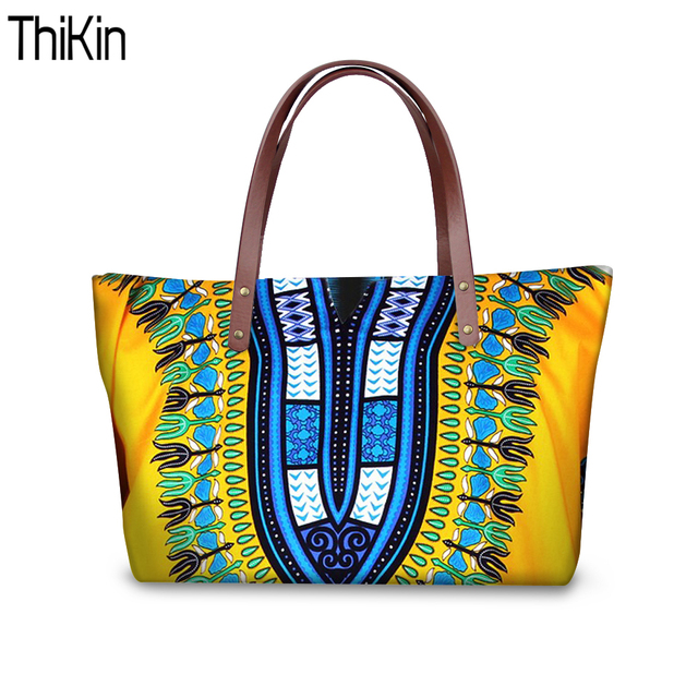 Thikin Women Handbags Tribal Ethnic African Beach Bags For 2018 Tote Bag Large Crossbody