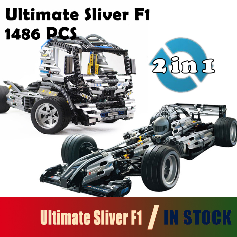 Compatible with lego Race The Ultimate Sliver Champion F1 Racing Model Building Blocks 8458 Educational Toys For Children lepin 20031 technic the jet racing aircraft 42066 building blocks model toys for children compatible with lego gift set kids